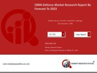 CBRN Defense Market Research Report- Global Forecast to 2023