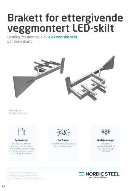 Brakett for ettergivende veggmontert LED-skilt