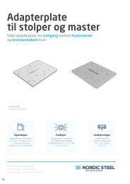 Adapterplate til stolper og master