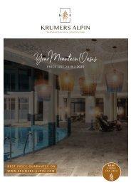 Krumers Alpin Preisliste 2019 / 2020 | EN
