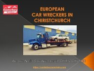 European Car wreckers Christchurch