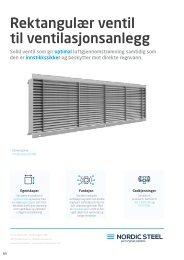 Rektangulær v entil til ventilasjonsanlegg