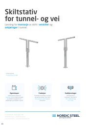 Skiltstativ for tunnel- og vei
