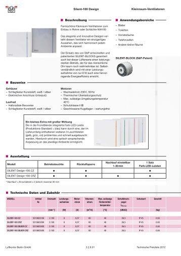 SILENT-100 Design - Luftkontor Berlin GmbH