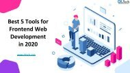 Best 5 Tools for Frontend Web Development in 2020