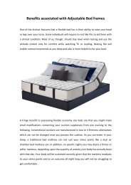 Benefits associated with Adjustable Bed frames