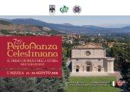 725a Perdonanza Celestiniana, L'AQUILA 23 - 29 Agosto 2019