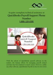 Acquire exemplary technical assistance at QuickBooks Payroll Support Phone Number  1-800-329-0391