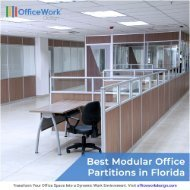 Best Modular Office Partitions in Florida