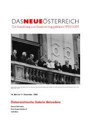 Österreichische Galerie Belvedere - Hannes Androsch