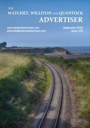 Watchet, Williton and Quantock Advertiser, September 2019
