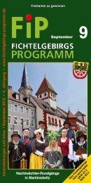 Fichtelgebirgs-Programm - September 2019
