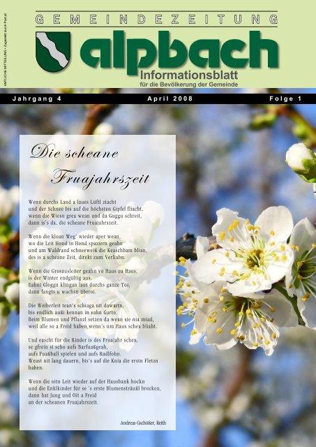 Informationsblatt - Alpbach - Land Tirol