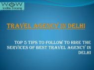 Travel Agency in Delhi ppt-converted