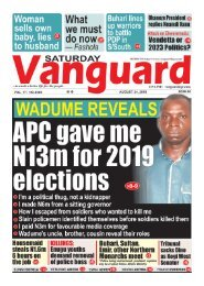 24082019 - Wadume Reveals:  APC gave me N13m for 2019 elections