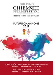 Future Champions Dressurfohlenauktion am 7. September 2019