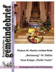 Evang.-luth. Kirchengemeinde Roth - Gemeindebrief Sept. 2019 bis Nov. 2019