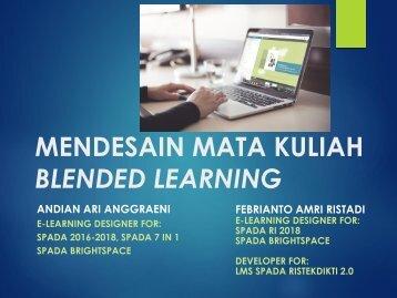 Mendesain Mata Kuliah Blended Learning