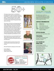 ARD Activity Guide - Auburn Senior Center- Fall 2019