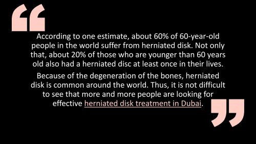 Nonsurgical Treatments for Herniated Disk