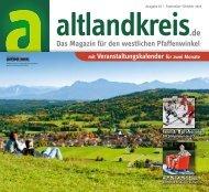 Altlandkreis Ausgabe September/Oktober 2019 - Das Magazin für den westlichen Pfaffenwinkel
