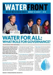 World Water Week Daily Monday 26 August, 2019