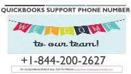 QuickBooks Support Phone Number +1-844-200-2627