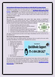 QuickBooks 2020 Support Phone Number +1-844-200-2627