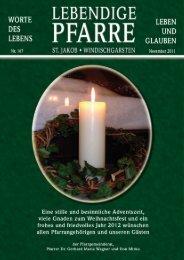 Pfarrbrief 167 - Die Pfarre St.Jakob Windischgarsten - Diözese Linz
