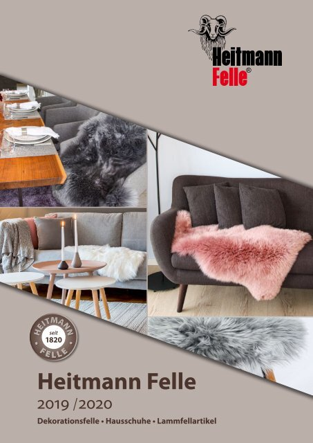 Heitmann Felle Dekorationsfelle, Hausschuhe und