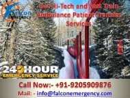 Falcon Emergency Train Ambulance in Delhi and Kolkata - Get Quick and Best Relocation-converted