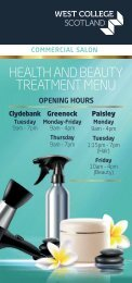 Health and Beauty Treatment Menu 2019