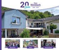 20 Jahre Haus Klotzbach