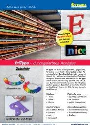 KS054 - friInfo - friType durchgefaerbtes Acrylglas