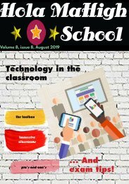 Hola MaHigh-School - Vol 8 issue 8 - August 2019