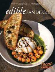 Edible San Diego Issue #55 Fall 2019