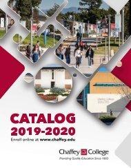 Chaffey College Catalog 2019-2020
