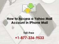 How to access a Yahoo mail Account in iPhone?