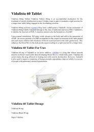 Vidalista 60 Tablet