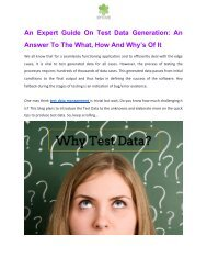 An Expert Guide On Test Data Generation_ An Answer To the What, How and Why's of It