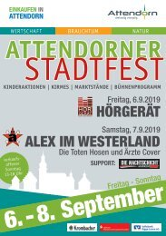 Programmheft Stadtfest 2019
