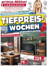Tiefpreiswochen bei prima Möbel in 07356 Bad Lobenstein