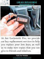 Car Key Replacement Jacksonville FL