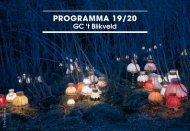 Seizoensbrochure 2019-2020 GC 't Blikveld - Bonheiden