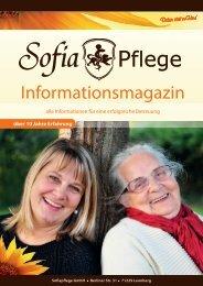 Gratis Pflegeratgeber Sofiapflege 2019