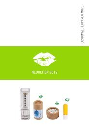 Lipcare Neuheiten und Kosmetik 2019