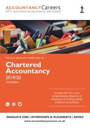 The Accountancy Careers Guide to Chartered Accountancy