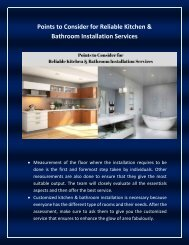 Hire Professionals for Unique Kitchen and bathroom Services In Gold Coast