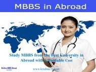 Best Consultancy to Pursue MBBS in Kyrgyzstan-Krishna MBBS Abroad Consultants