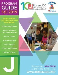 Rosen JCC Fall 2019 Program Guide